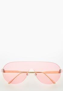 Pink Shield Sunglasses