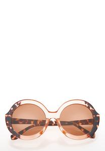 Lucite Tortoise Round Sunglasses