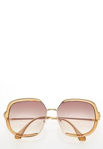 Oversized Orange Sunglasses