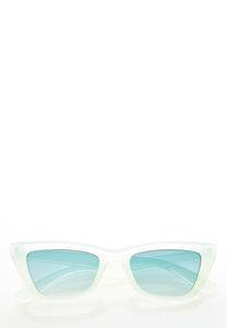 Green Lucite Cat Eye Sunglasses