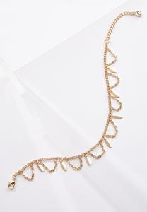 Draped Gold Metal Anklet
