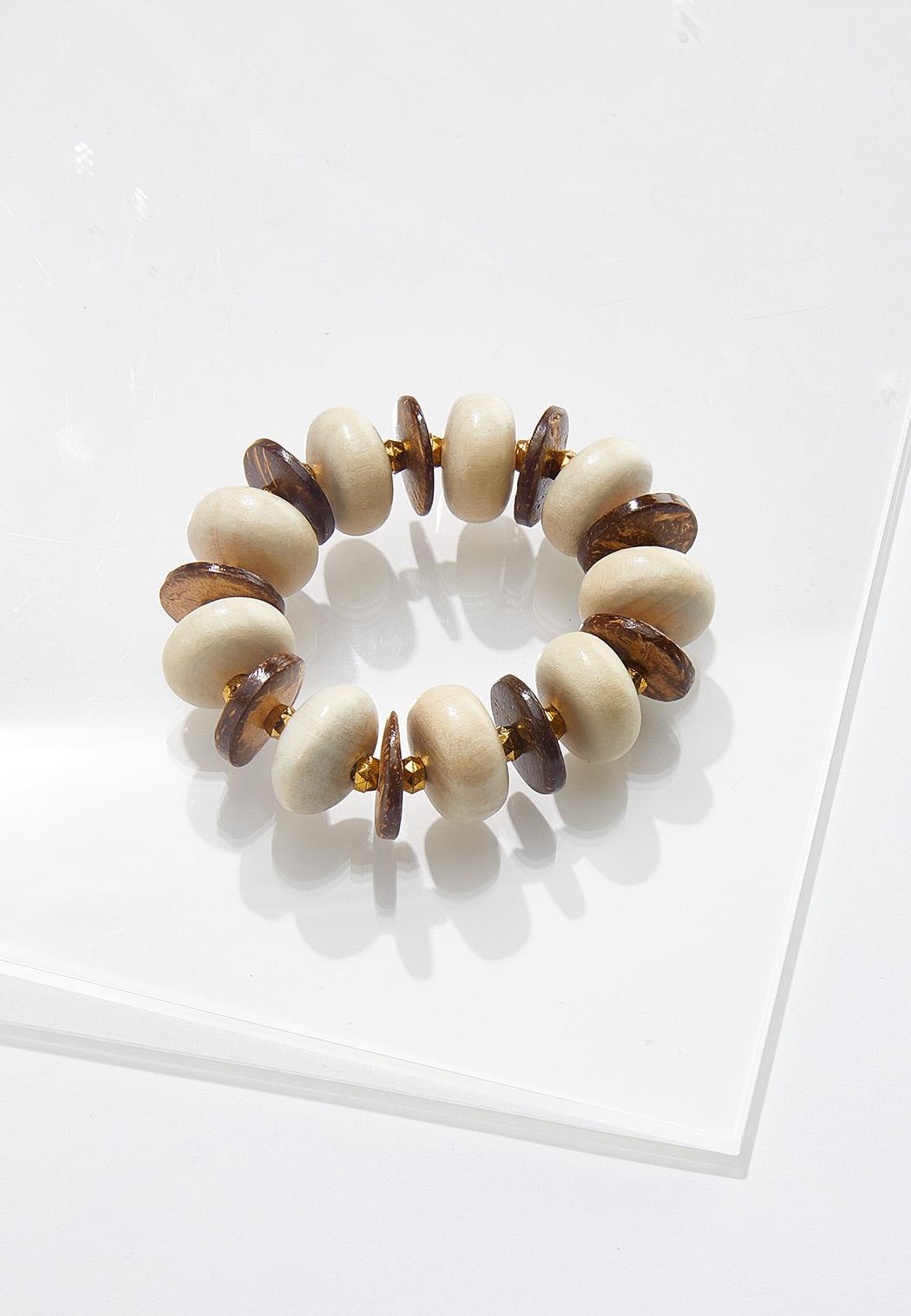 Earth Bead Stretch Bracelet
