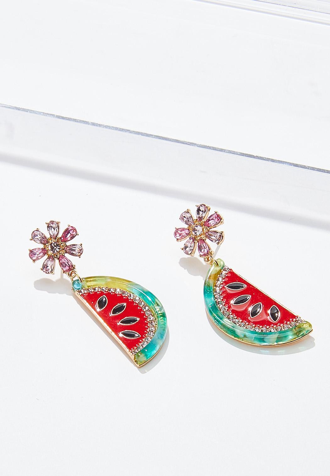 Watermelon Lucite Earrings