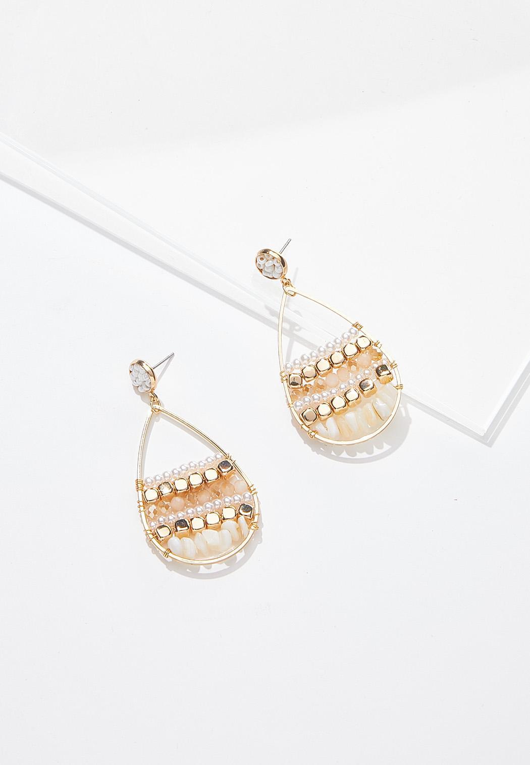 Pearl Shell Wire Earrings