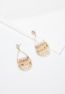Pearl Shell Wire Earrings