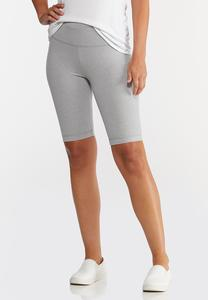 Pull-On Stretch Biker Shorts