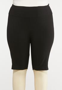 Plus Size Pull-On Stretch Shorts