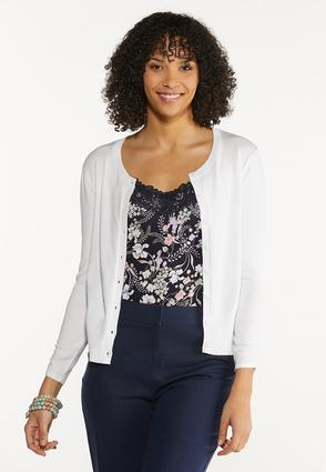 Plus Size Ruched Sleeve Cardigan