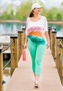 Plus Size Cropped Turquoise Leggings