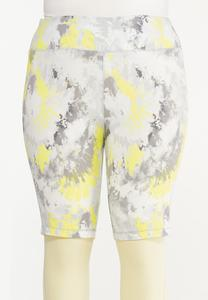 Plus Size Brighter Skies Biker Shorts