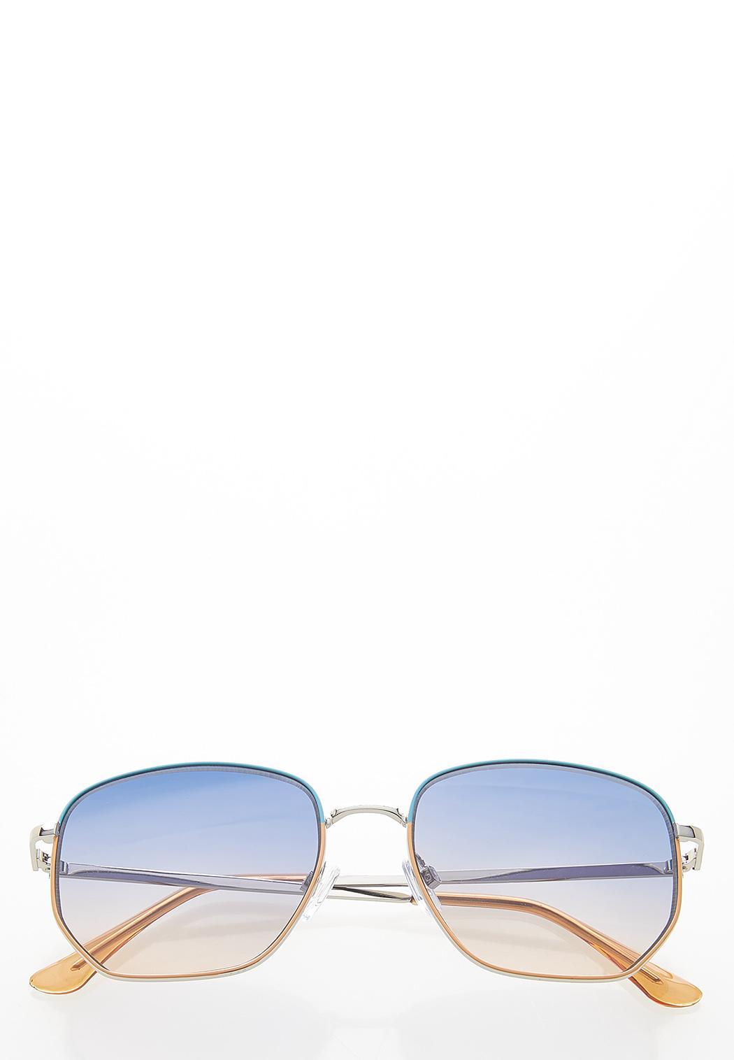 Two-Tone Fashion Sunglasses