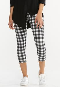 Cropped Check Pants