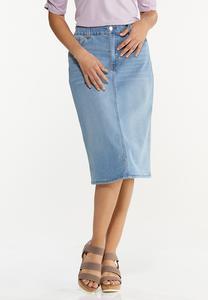 Lightwash Denim Skirt