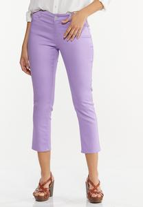 Cropped Lavender Skinny Jeans