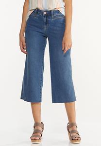 Cropped Wide Leg Jeans
