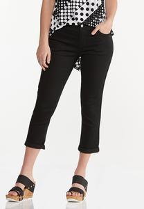 Cropped Black Skinny Jeans
