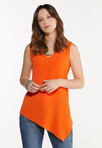 Plus Size Citrus Asymmetrical Tunic