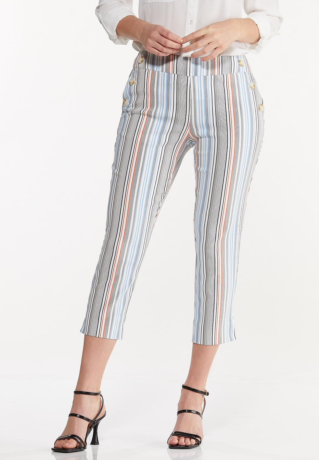 Cropped Striped Pants