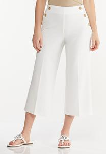 Cropped Sailor Pants
