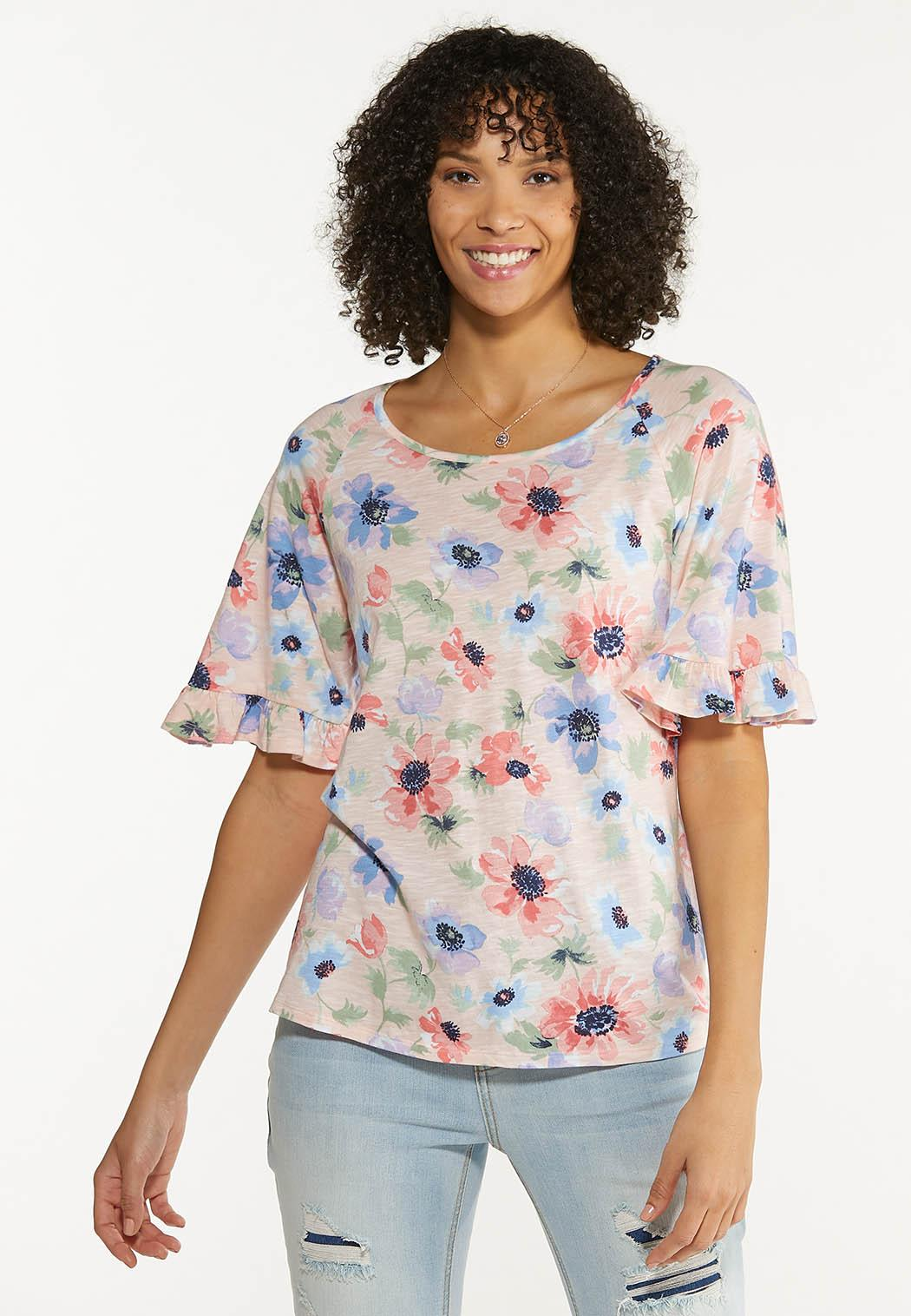 Plus Size Pink Floral Top