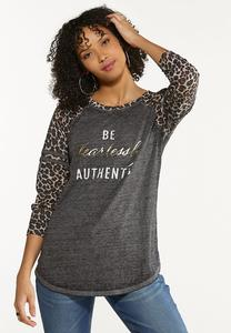 Plus Size Fearlessly Authentic Top