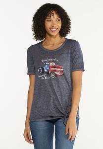 Land Of The Free And Brave Tee