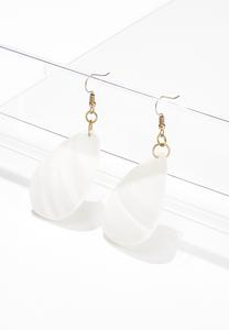 Ivory Tear Shell Earrings