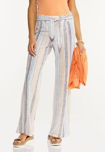 Petite Multi Stripe Pants