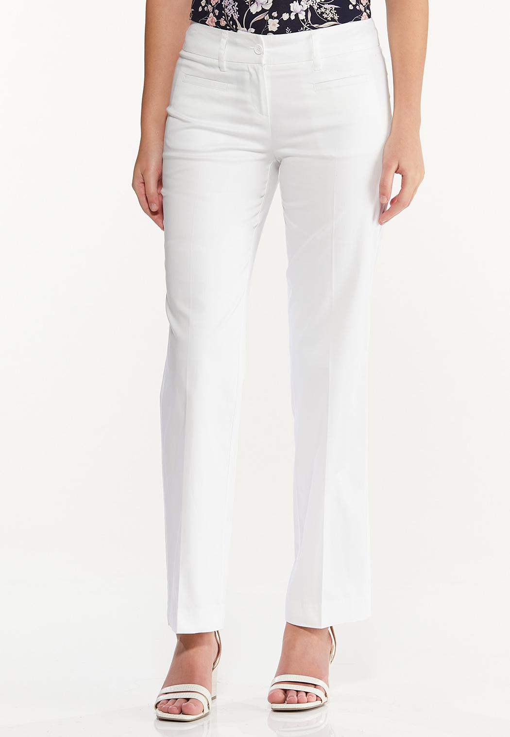 Petite Sateen Trouser Pants