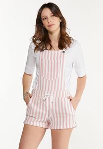 Dashing Stripe Overall Shorts