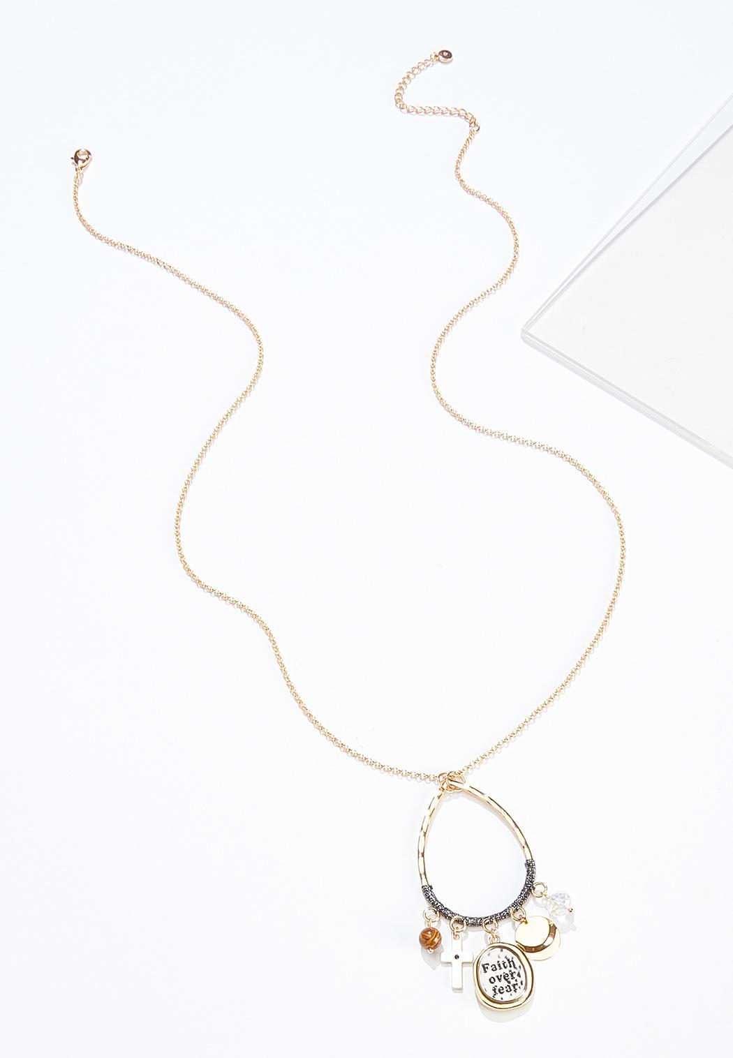 Faith Over Fear Pendant Necklace