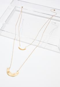 Crescent Bar Layered Necklace