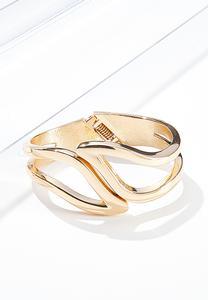 Curved Hinge Cuff Bracelet