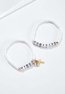 Positive Vibes Bracelet Set