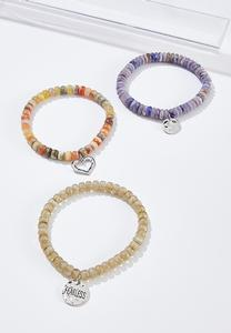 Mixed Bead Charm Bracelet Set