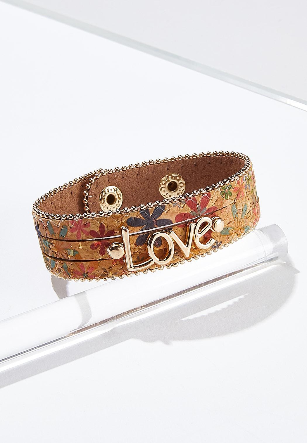 Love Floral Cork Bracelet