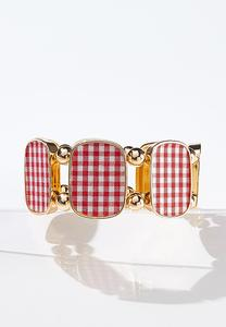 Gingham Stretch Bracelet