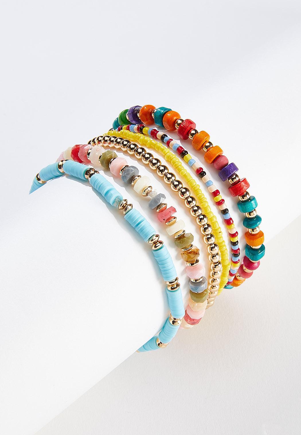 Colorful Mixed Bead Bracelet Set