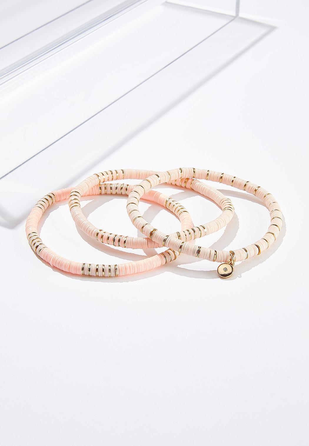 Pink Sequin Bracelet Set
