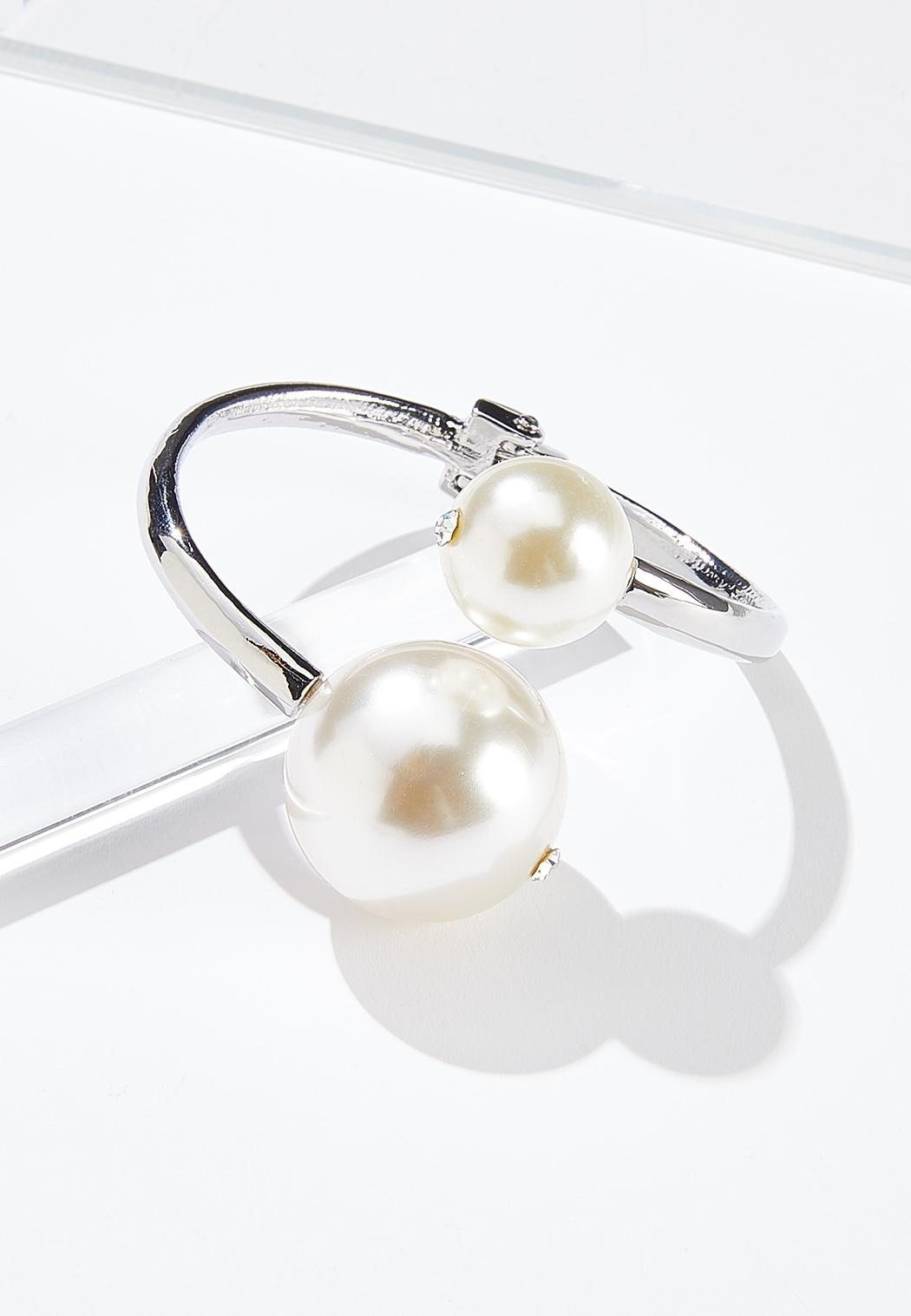 Pearl Hinge Cuff Bracelet