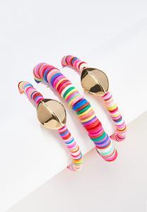 Rainbow Disc Bracelet Set