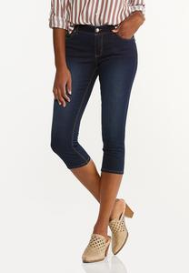 Cropped Dark Wash Jeans