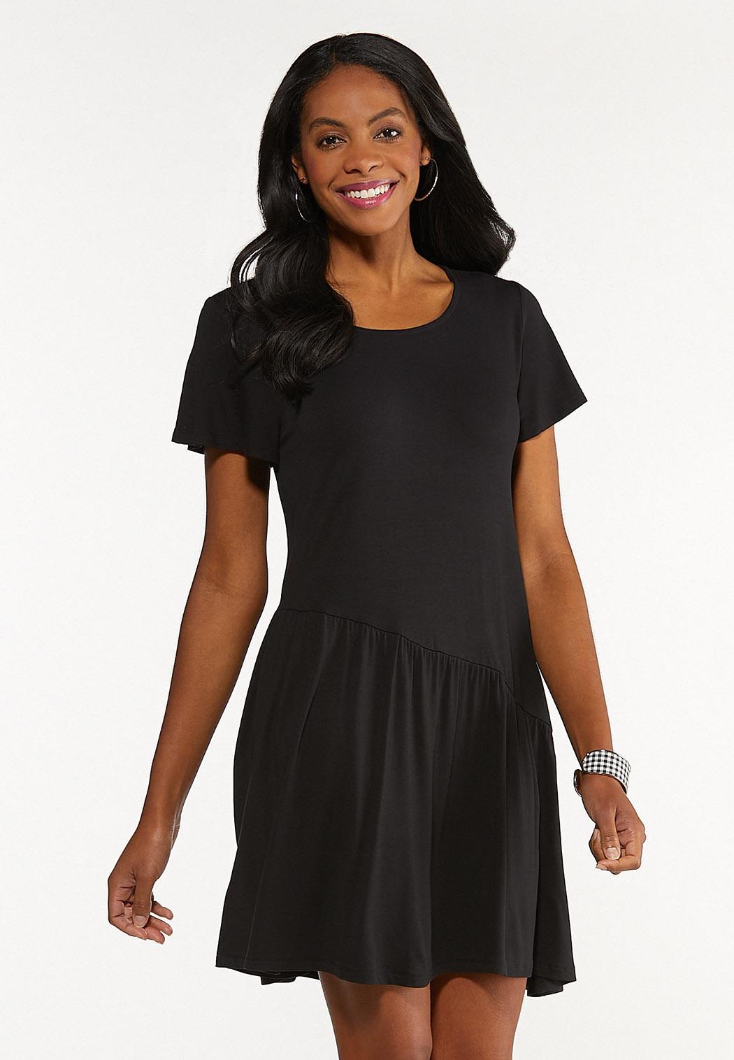 Plus Size Curved Seam Swing Dress
