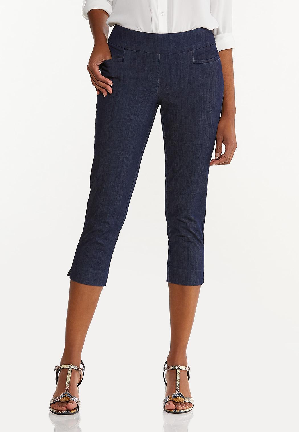 Cropped Dressy Denim Pants