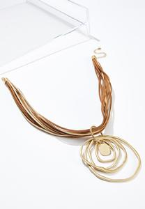 Corded Orbit Pendant Necklace