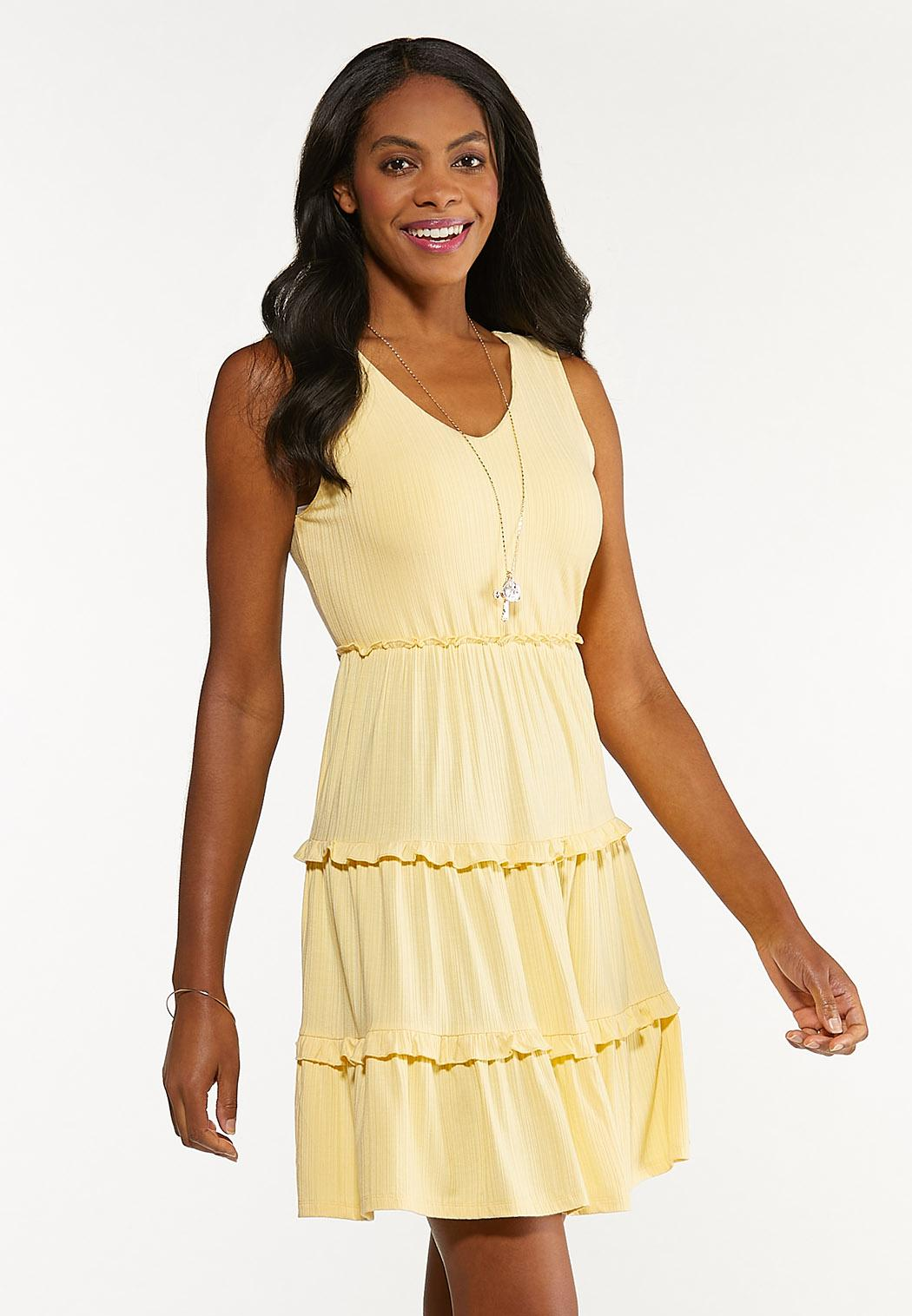 Yellow Tiered Babydoll Dress
