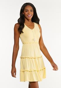Yellow Tiered Babydoll Dress