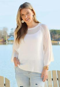 Ivory Tie Back Sweater