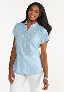 Daisy Button Collar Shirt