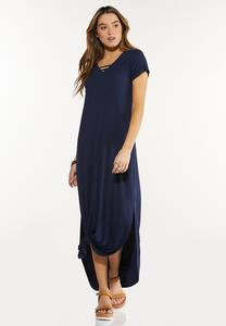 Plus Size Knotted Maxi Dress
